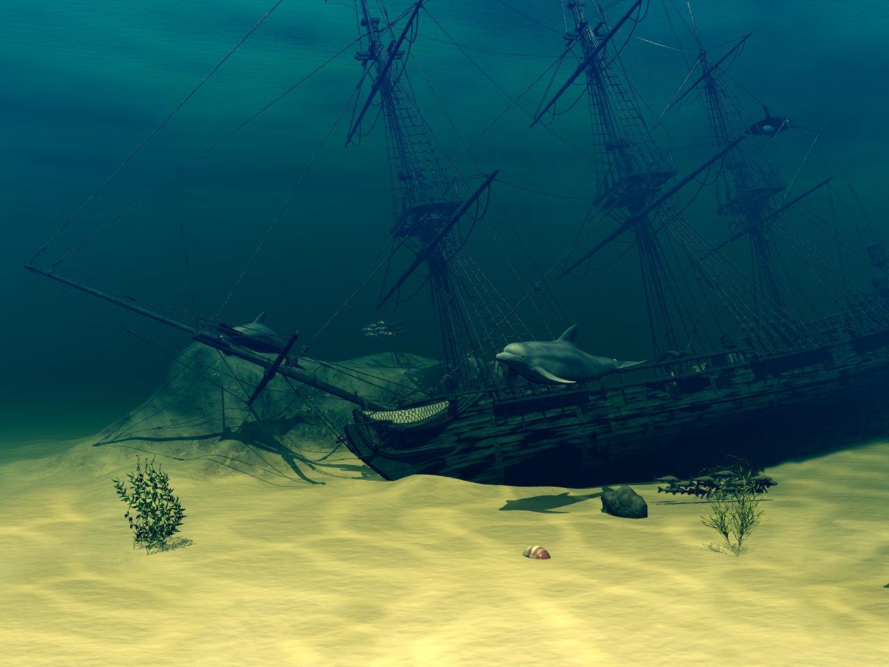 19th Day Miniatures Works in Progress: Miniature Under the ... |Sunken Ships Underwater