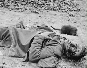Casualty of war, Petersburg, VA (Library of Congress)