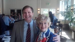 Ron Galperin and Jill Banks Barad strike a nice pose at the VANC debate.